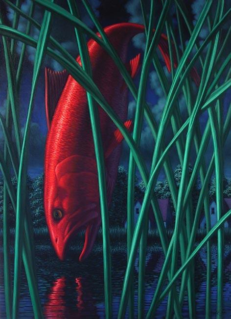 Red fish leonard koscianski contemporary art for Red fish oil