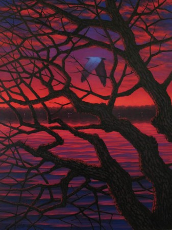Red sky in the morning oil on canvas 48″x36″ 2008 leonard